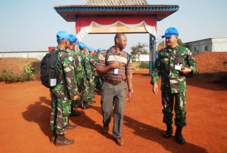 MONUSCO Inspeksi Peralatan Satgas Kizi TNI di Kongo