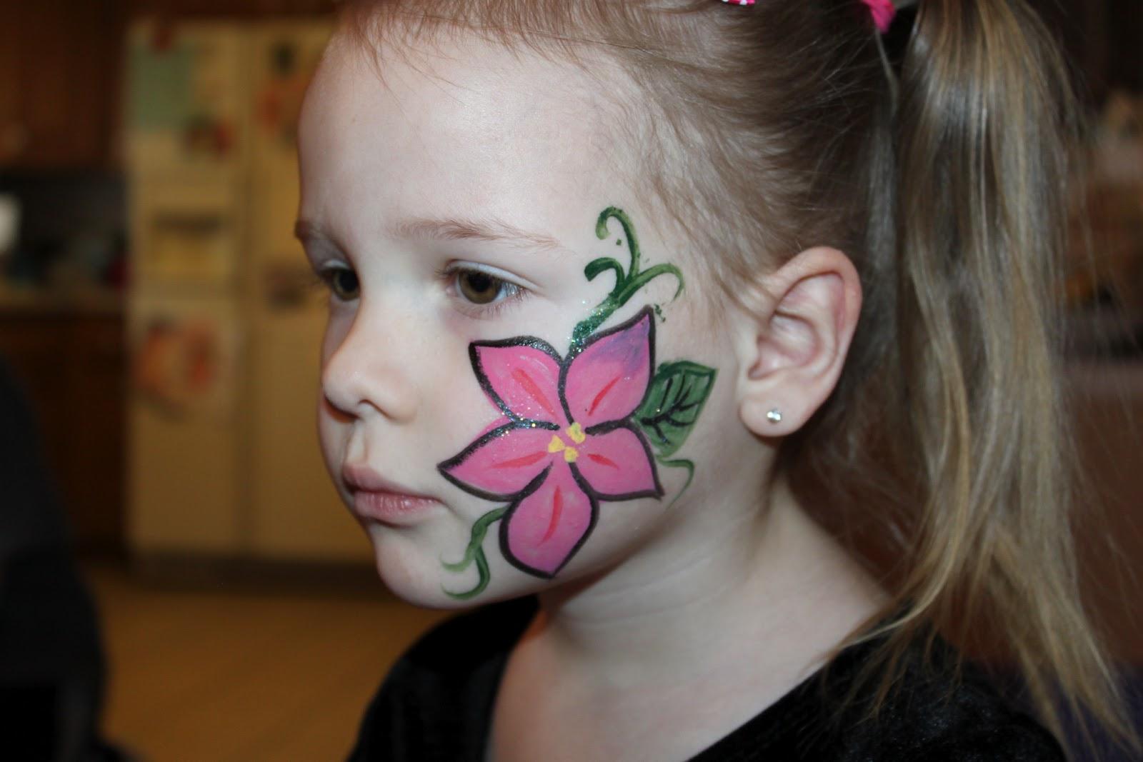 face painting easy flower wwwimgkidcom the image kid