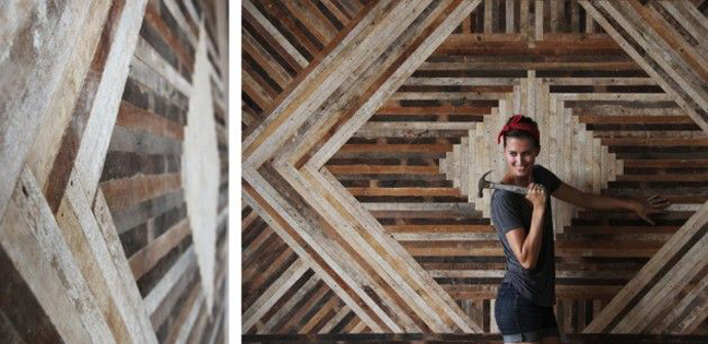 patchwork wood wall