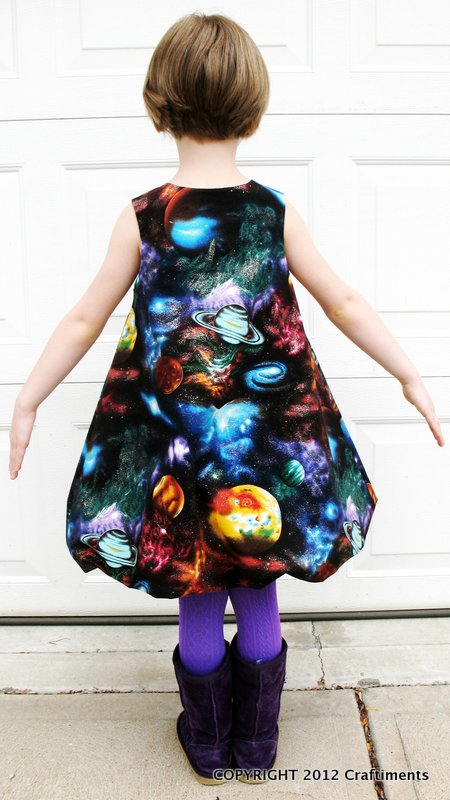 Craftiments:  Galaxy Bubble Dress back