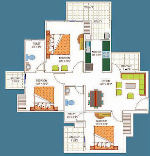 Amrapali La Residentia :: Floor Plans