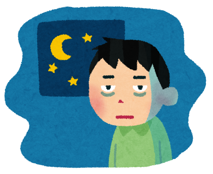 「フリー画像 睡眠不足」の画像検索結果