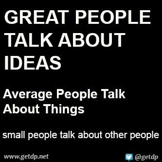 GETDP: Great people talk about ideas, average people talk