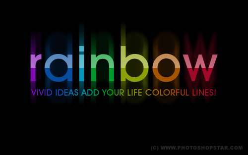 how to make rainbow text on photoshop