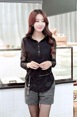 blouse korea lengan panjang Import Diskon