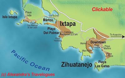 Mapa de Ixtapa Política Regional