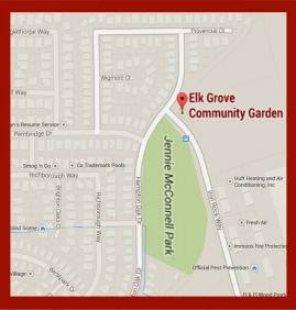 Map of Elk Grove Community Garden