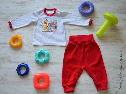 Лонгслив (футболка) и штанишки для мальчика размер 80