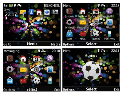 Bubble burst theme for Nokia Asha 302, Asha 201, Asha 200, C3-00, X2-01,
