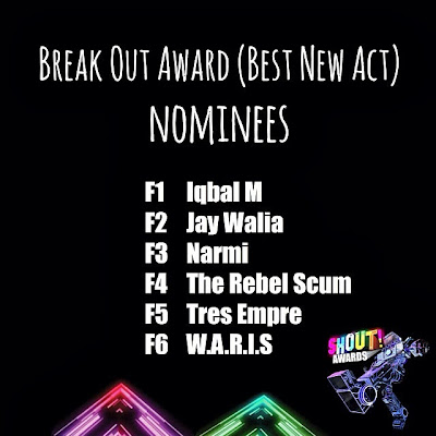 The Shout! Awards 2013 - Break Out Award (Best New Act) Nominees