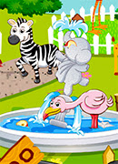 Уборка в зоопарке - Онлайн игра для девочек