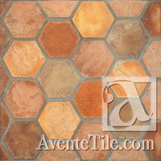 Arabesque Hexagon Spanish Paver Tile | Avente Tile