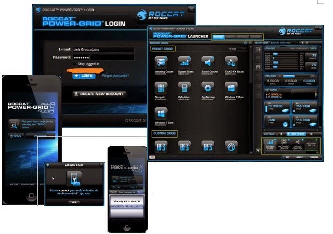 RocCat Power-Grid|Configurações