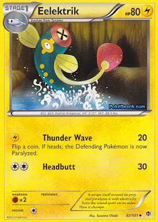 Eelektrik Plasma Blast Pokemon Card