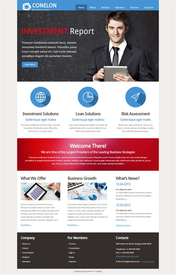 Conelon - Free Wordpress Theme