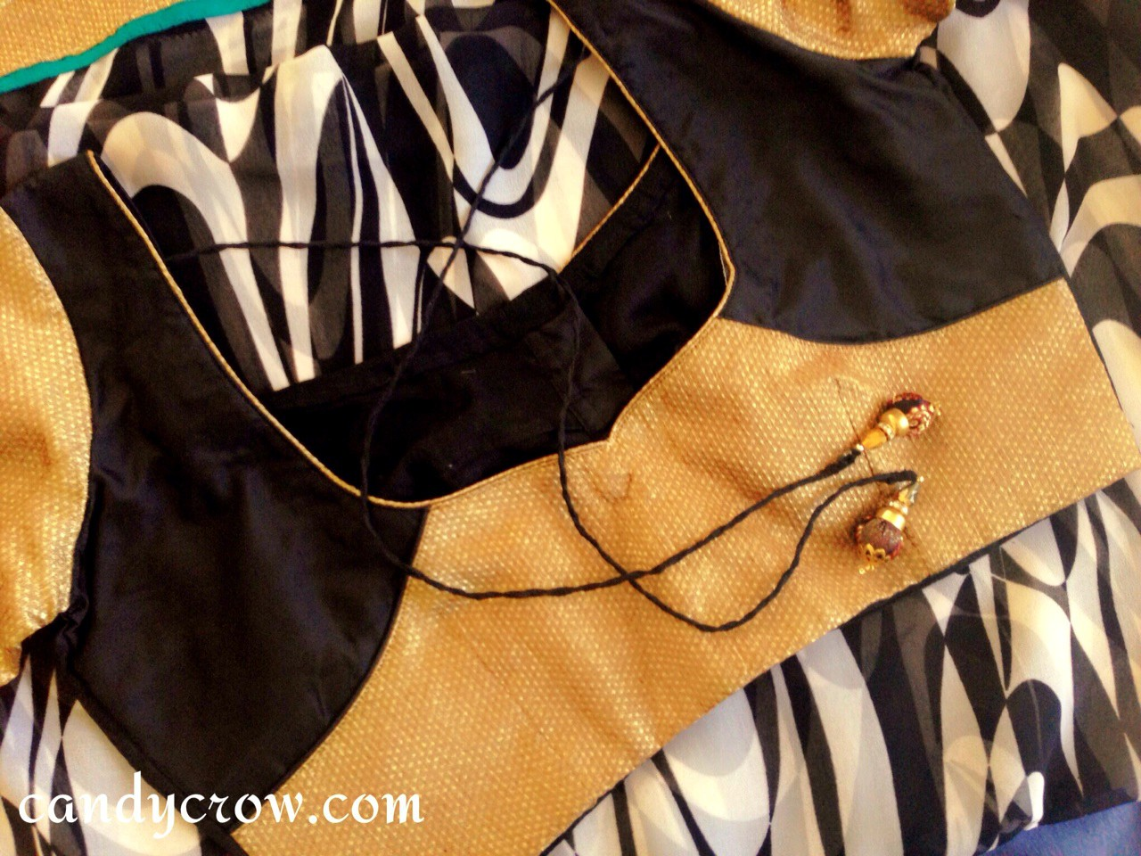 bLACK DESIGNER SAREE  blouse