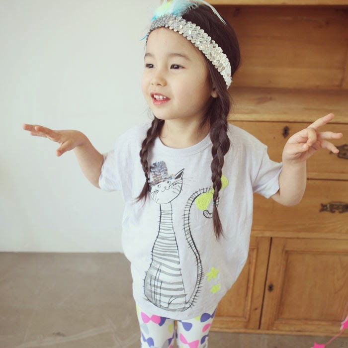 Lila Nana Long tee - Jujubunnyshop spring 2014 kids fashion collection