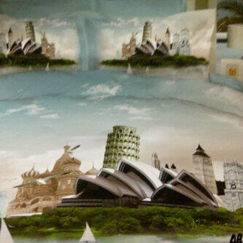 Sprei Jepang Panel Motif Gedung Opera Sydney