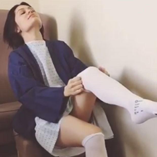 Jessie J before operation on Monday, 22