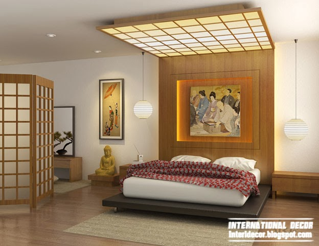 Japanese interior design ideas style and elements for Interior design bedroom ceiling