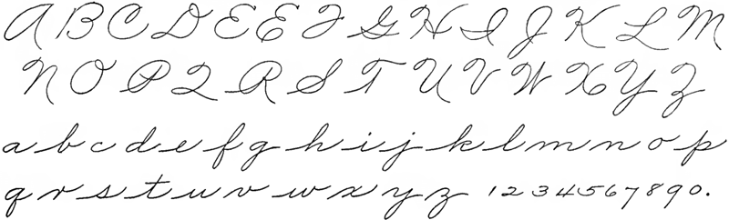 Fancy Cursive Handwriting
