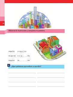 Apoyo Primaria Español 1er grado lección 13 En la ciudad una plaza