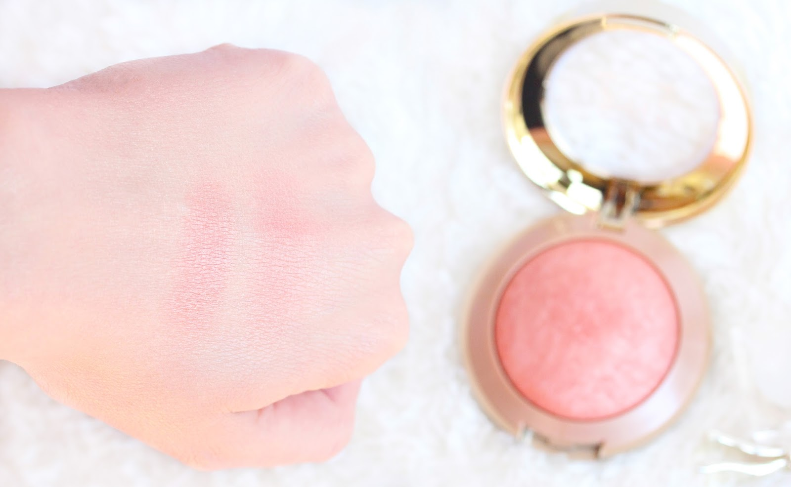 Milani Baked Blush in Luminoso Swatches