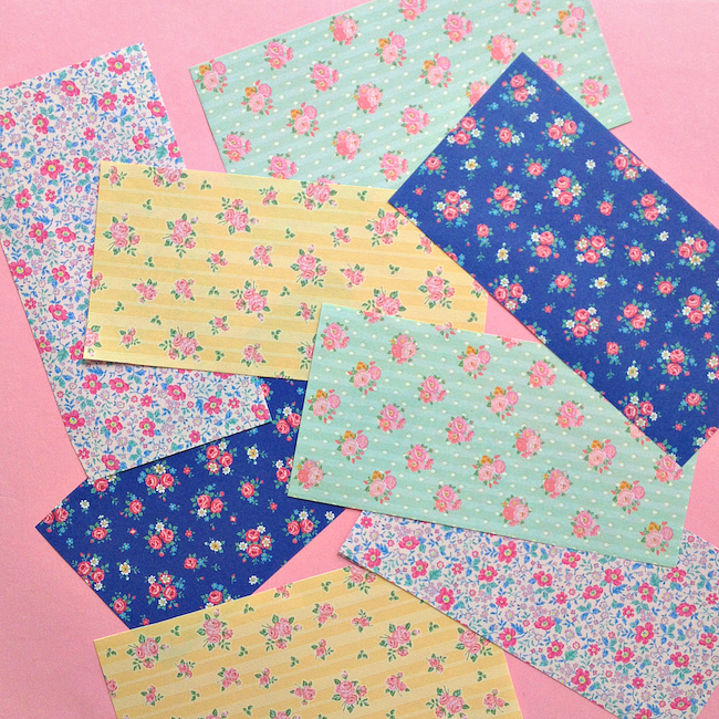 omiyage blogs make pyramid paper pouches