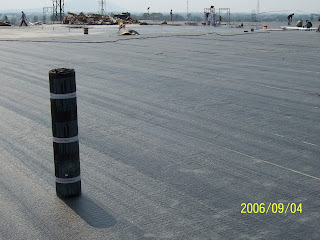 waterproofing membrane bakar pada area atap
