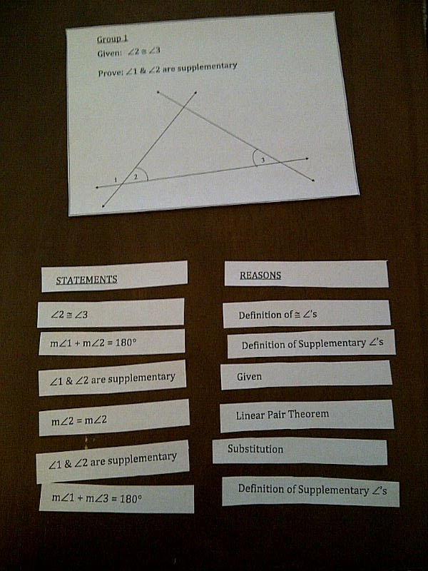 Hands on geometry lesson plans for high school