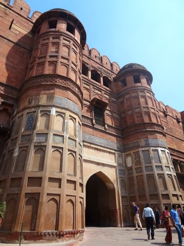 porte fort rouge red fort agra inde visite