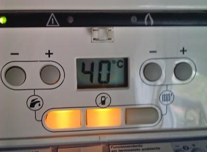 bajar temperatura caldera