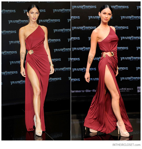 Maroon colored dresses at foxes
