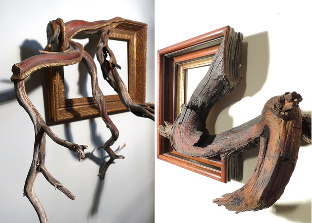 This Creative Idea By John Houshmand, A Huge Tree Split Into Two Parts, The  Dining Table Is Made From Half Of The Tree.