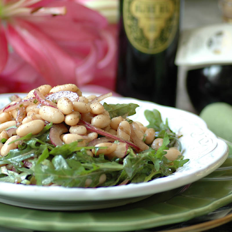 Arugula and Cannelini Bean Salad