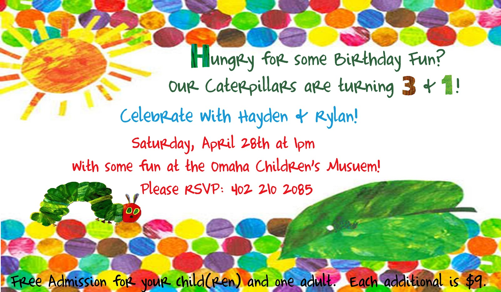 I Love Making Awesome Stuff!: The Very Hungry Caterpillar Party