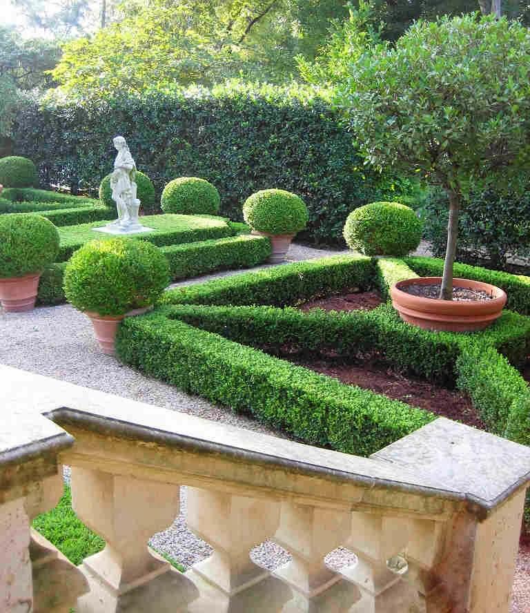 Sastrer a vegetal dise o de jardines y bosques for Jardin geometrico