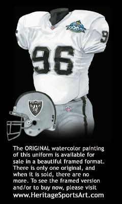 Oakland Raiders 2002 uniform