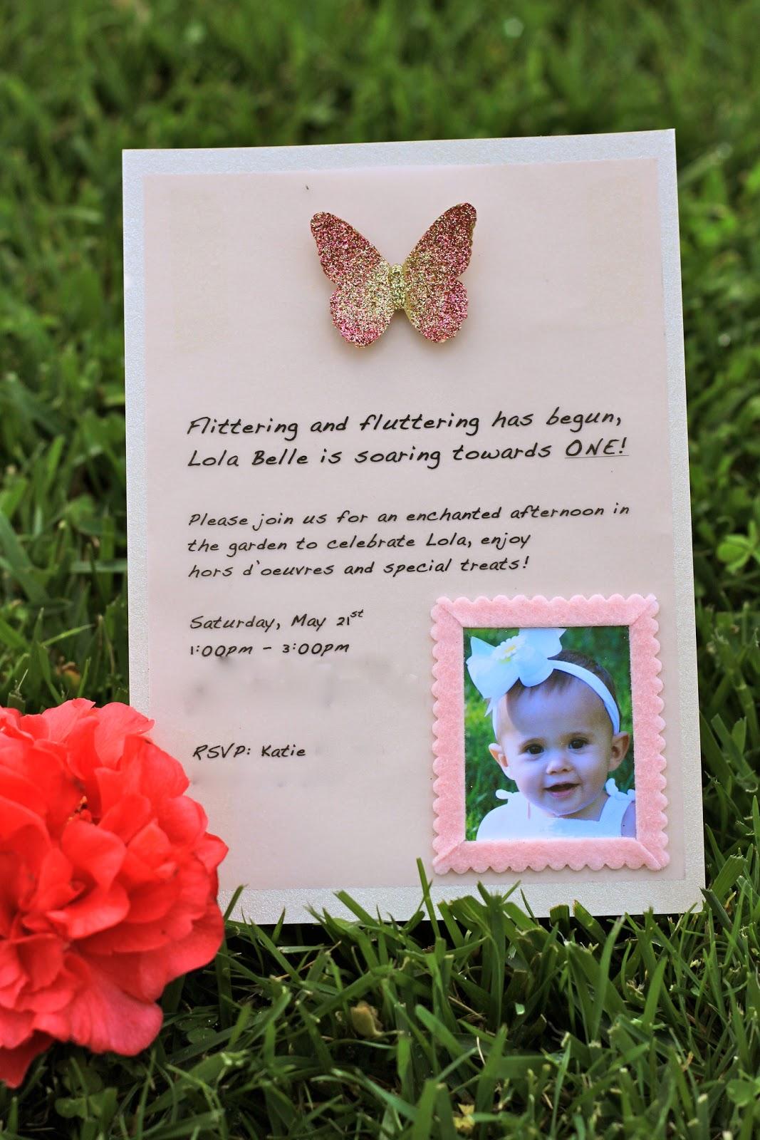 Epicurean Mom: 1st Birthday Invitations