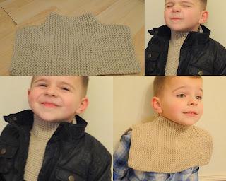 Kids scarf knitting pattern