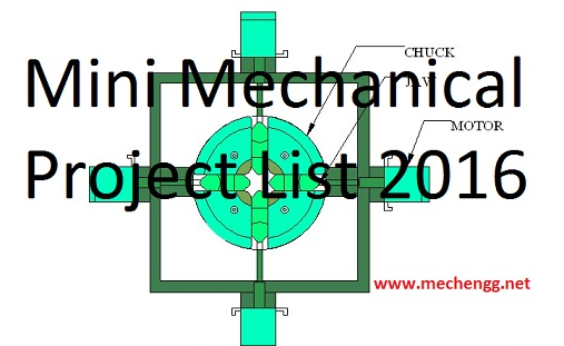 Mechanical Engineering Mini Projects In Design And Fabrication