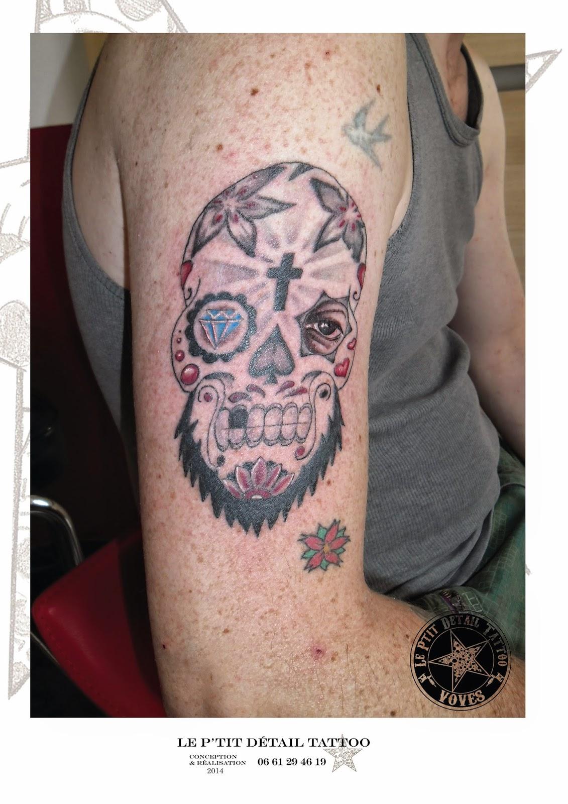 Le P Tit Détail Tattoo Crane Mexicain Le Mess