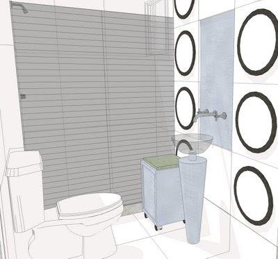 Desenhos Preto e Branco Banheiro modelo Colorir