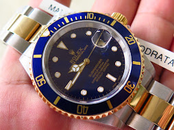 ROLEX SUBMARINER DATE TWO TONE SUNBURST BLUE DIAL-ROLEX 16613-SERIE P YEAR 2005-FULLSET BOX PAPERS