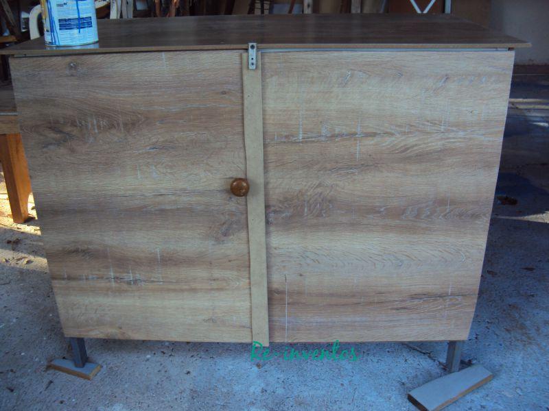 Artesanato Zezinha ~ Re inventos Estrutura de mesa vira armário