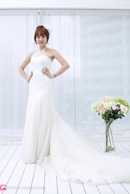 5 Yoon Seul in Wedding Dress-Very cute asian girl - girlcute4u.blogspot.com