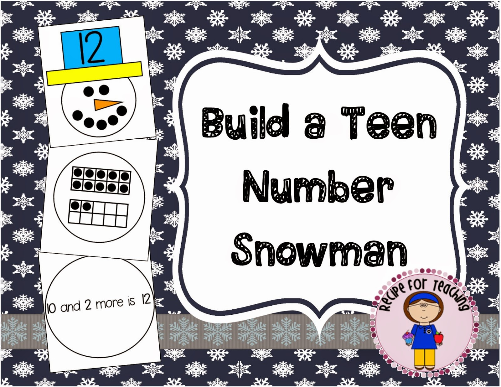 http://www.teacherspayteachers.com/Product/Teen-Number-Snowmen-1630050
