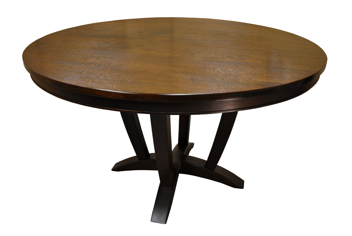 ... Furniture - A Woodworkers Photo Journal: a round walnut dining table