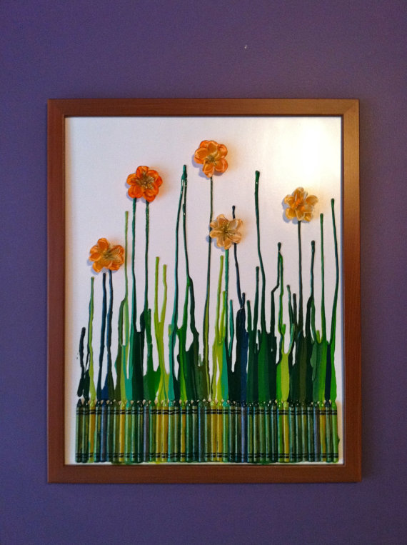 A Quest to be Crafty: DIY Art Work Tuesday: Melted Crayon wall art