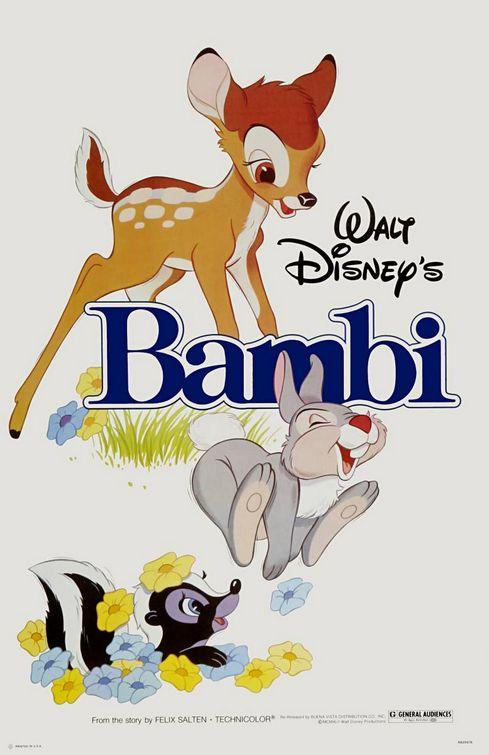 Film poster Bambi 1942 disneyjuniorblog.blogspot.com